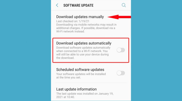 Android-download-software-updates